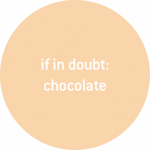 if in doubt: chocolate is a healthy booster for your mind and body sugarfree low carb antioxidant